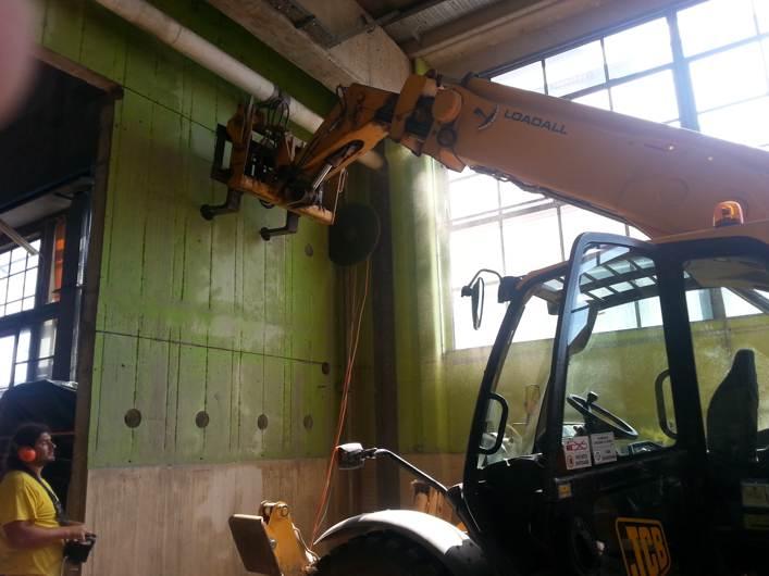 manutenzione industriale - taglio muri