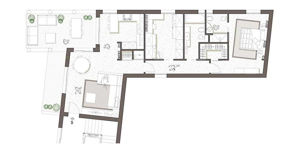 residenza piazza maggiore planimetria 01